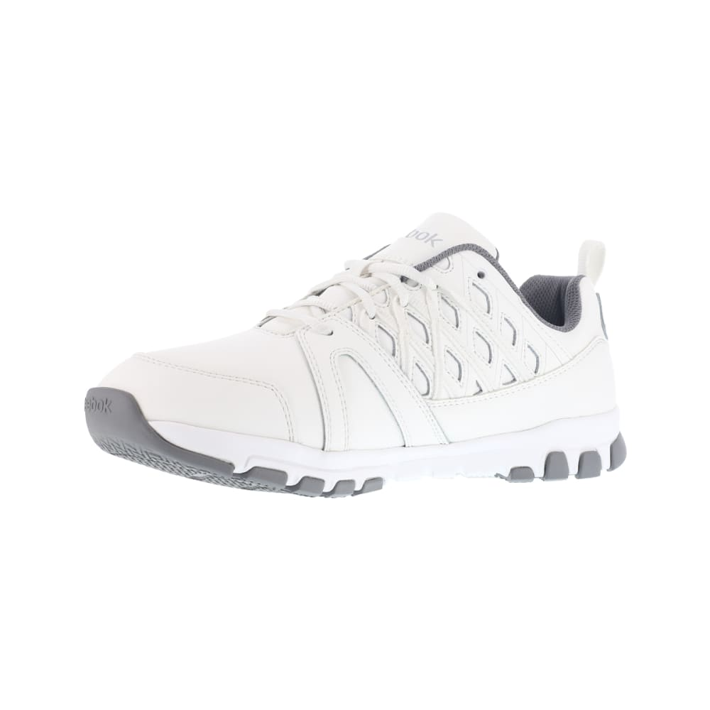 REEBOK WORK Men's Sublite Work Soft Toe Sneakers, White, Wide - WHITE