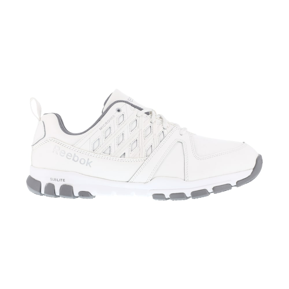 REEBOK WORK Women's Sublite Work Soft Toe Sneakers, White - WHITE