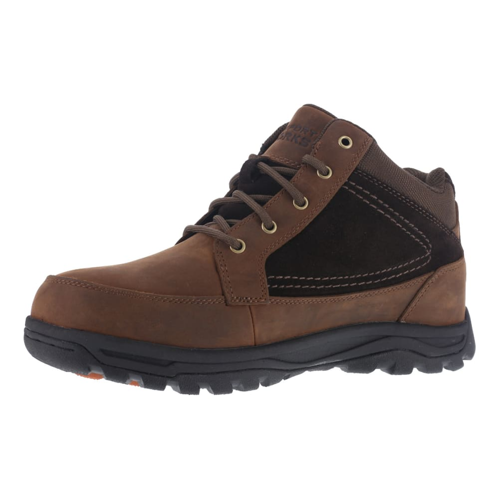 ROCKPORT WORKS Men's Trail Technique Steel Toe Trail Hiker Boots, Brown - BROWN