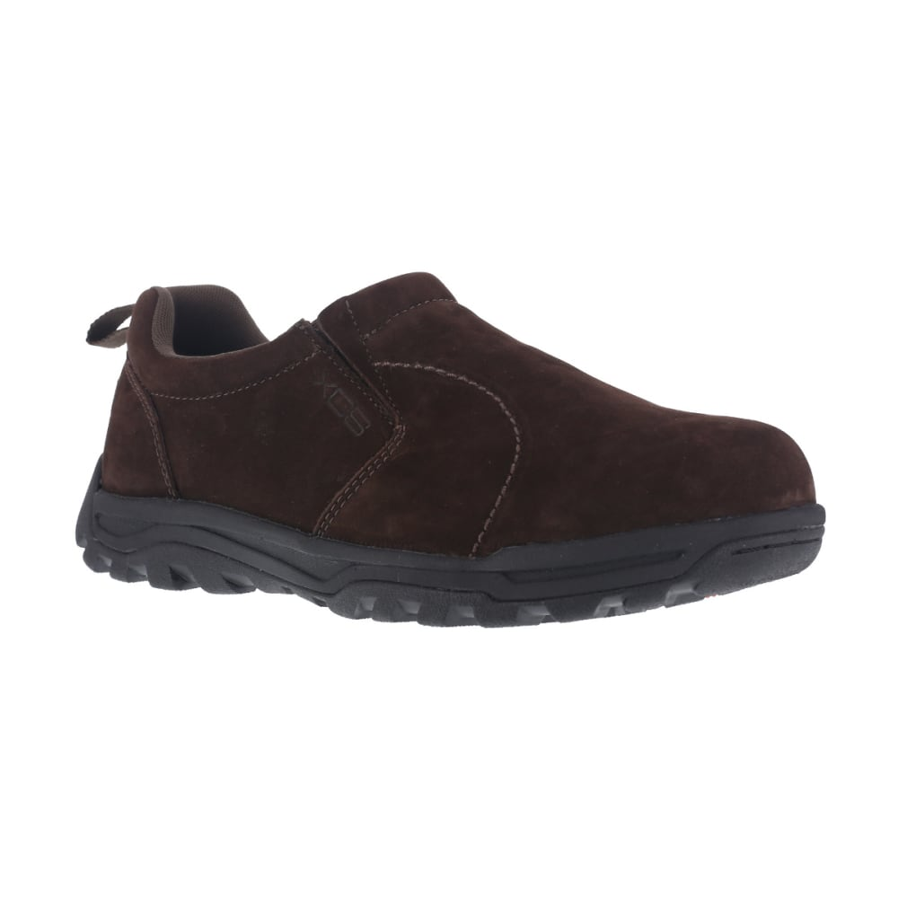 ROCKPORT WORKS Men's Trail Technique Steel Toe Trail Jungle Moc Shoes, Brown, Wide - BROWN