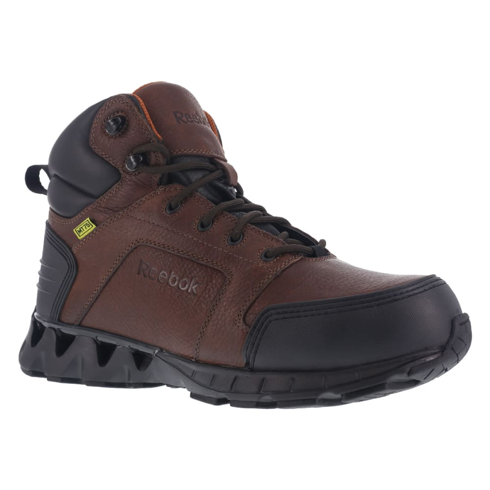 REEBOK WORK Men's Zigkick Carbon Toe Hiking Boots, Dark Brown 7