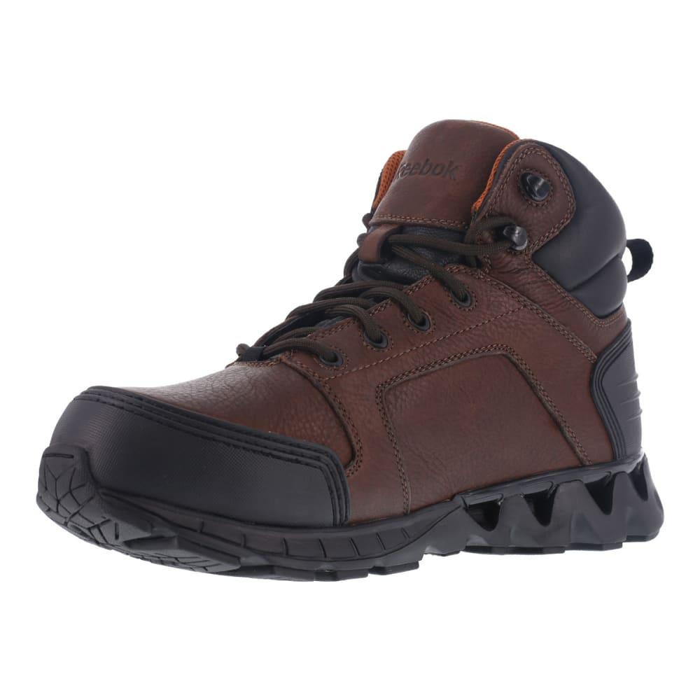 REEBOK WORK Men's Zigkick Carbon Toe Hiking Boots, Dark Brown, Wide - DARK BROWN