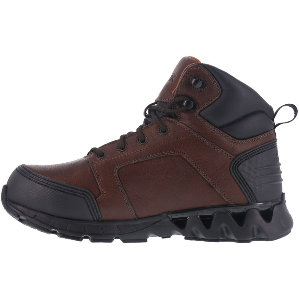 REEBOK WORK Men's Zigkick Carbon Toe Hiking Boots, Dark Brown, Wide - DARK BROWN