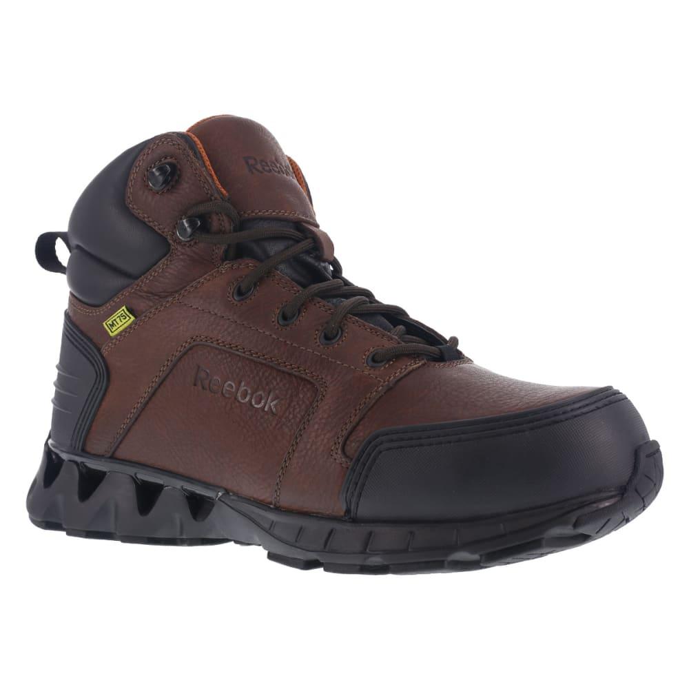 REEBOK WORK Men's Zigkick Carbon Toe Hiking Boots, Dark Brown, Wide 8
