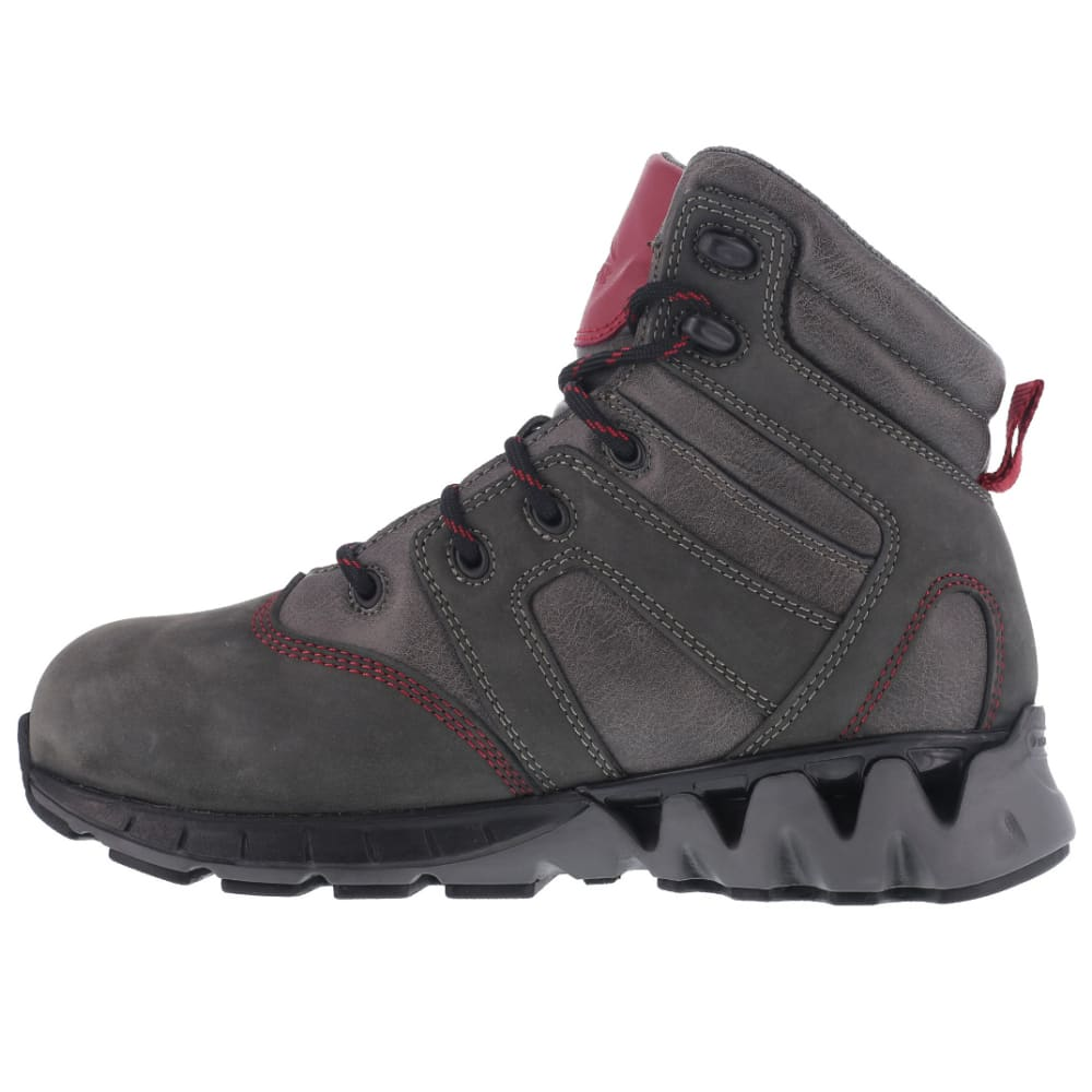 REEBOK WORK Women's Zigkick Carbon Toe Waterproof  Hiking Boots, Grey/ Fuchsia - GREY/FUCHSIA