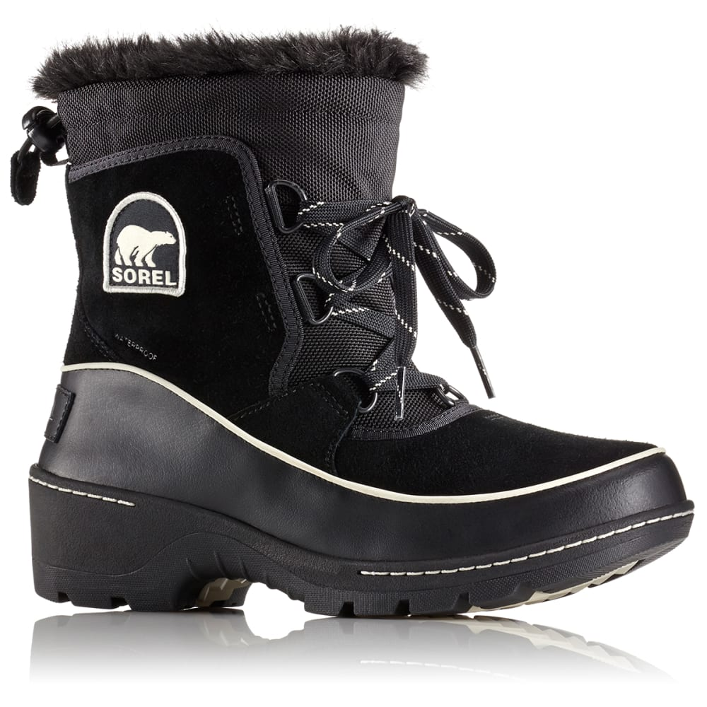 SOREL Women's 8 in. Tivoli III Waterproof Boots, Black/Light Bisque - BLACK/LIGHT BISQUE