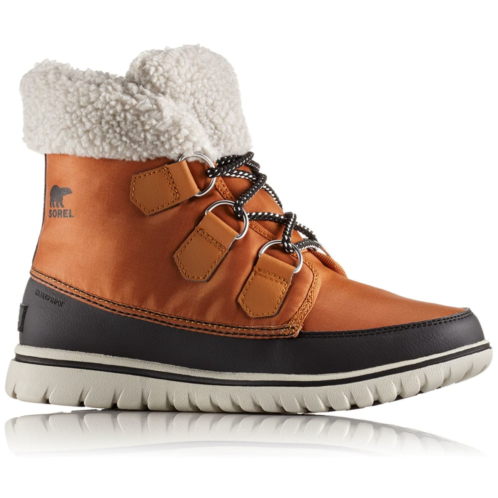 SOREL Women's Cozy Carnival Mid Waterproof Winter Boots, Caramel/Black - CARAMEL/BLACK