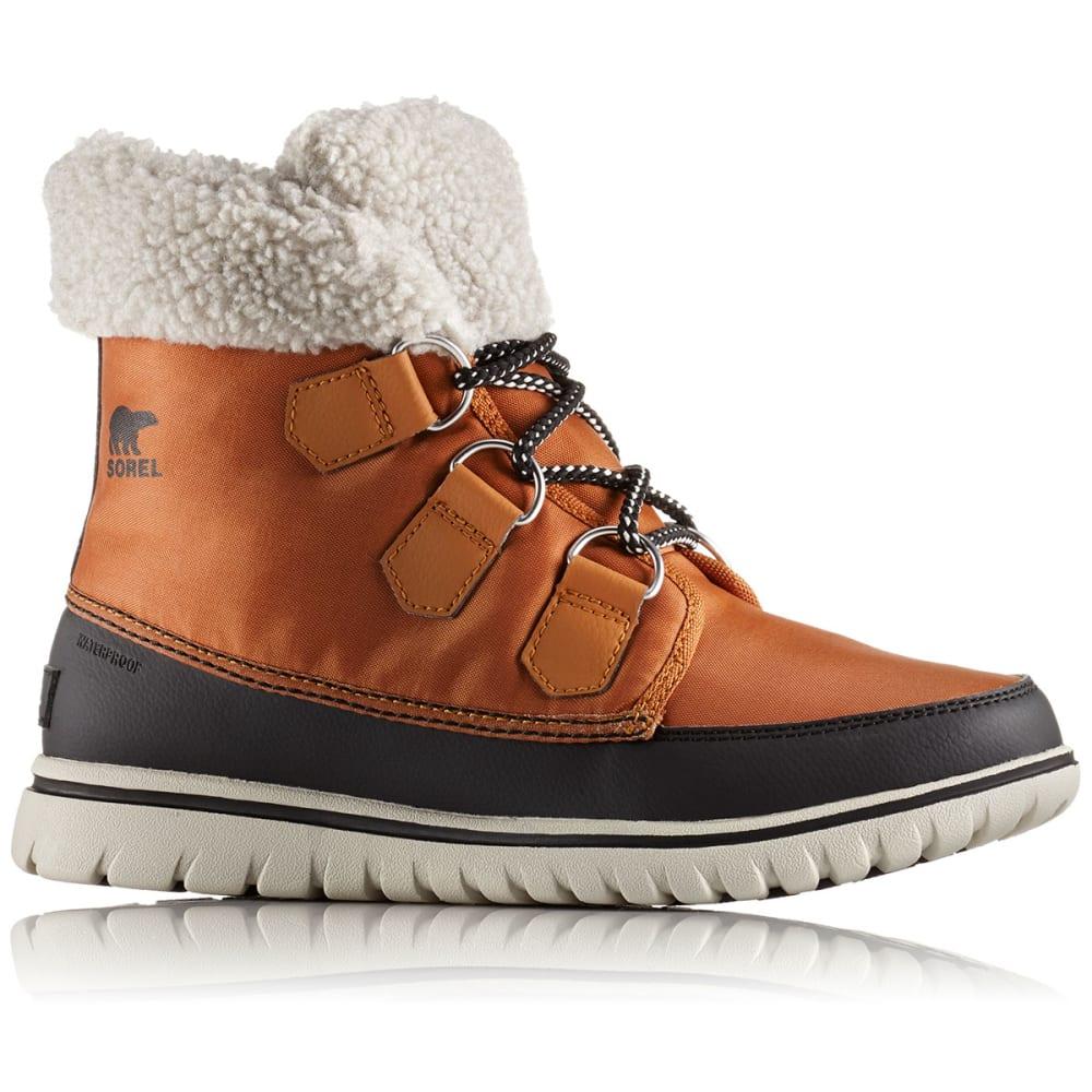 SOREL Women's Cozy™ Carnival Mid Waterproof Winter Boots, Caramel/Black - CARAMEL/BLACK