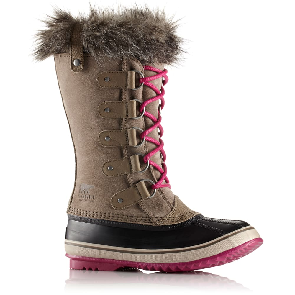 SOREL Women's Joan of Arctic Boots, Pebble/Deep Blush 6