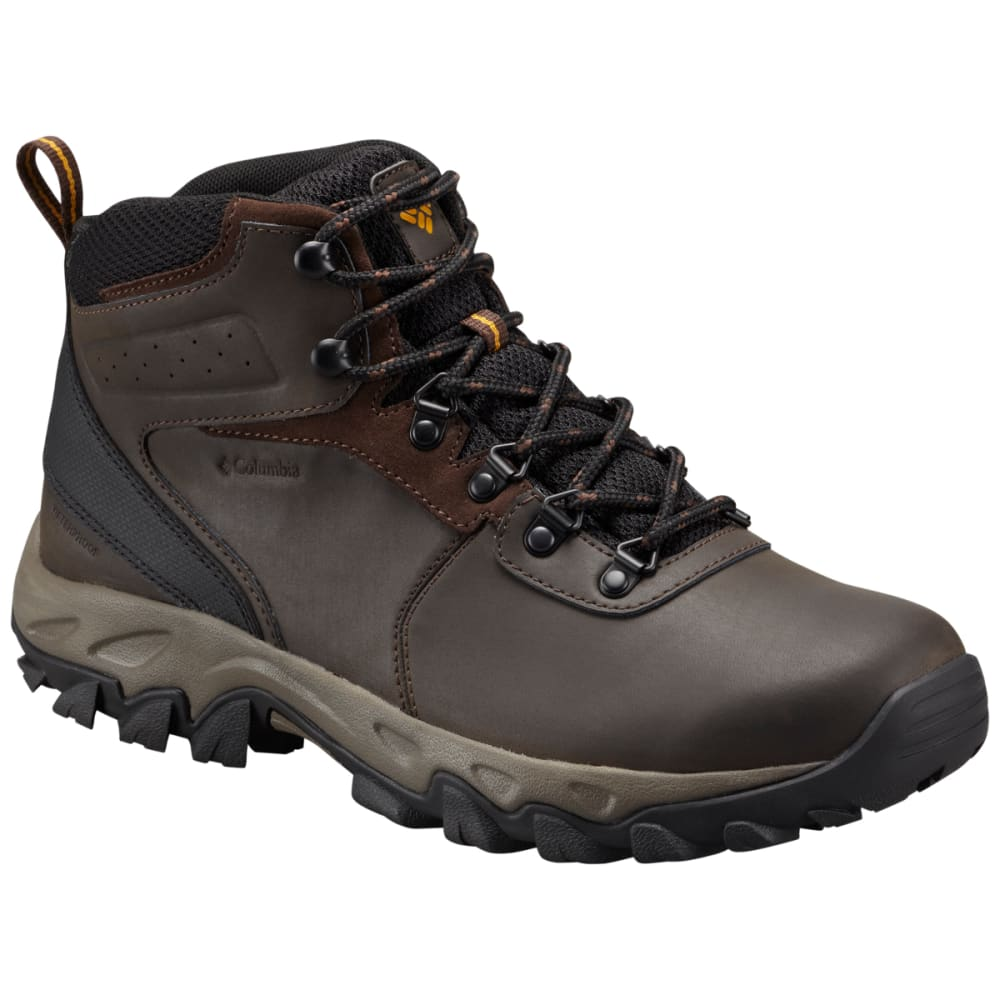 COLUMBIA Men's Newton Ridge Plus II Waterproof Hiking Boots, Wide - CORDOVAN