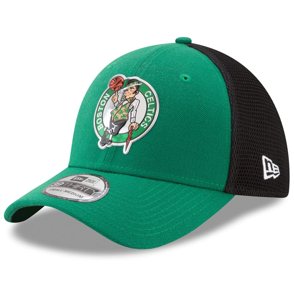 BOSTON CELTICS Men's On-Court 39Thirty Flex Cap - GREEN