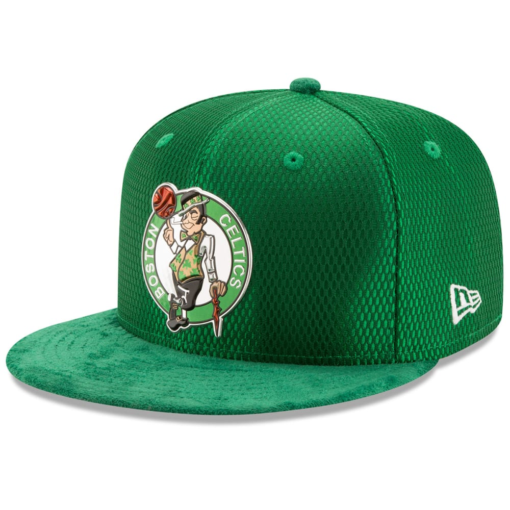BOSTON CELTICS Men's On-Court 59Fifty Cap - GREEN