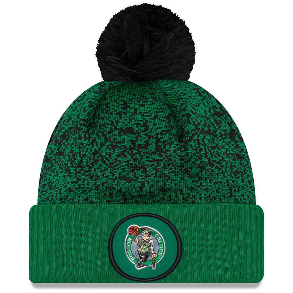BOSTON CELTICS On-Court Cuffed Pom Knit Beanie - GREEN