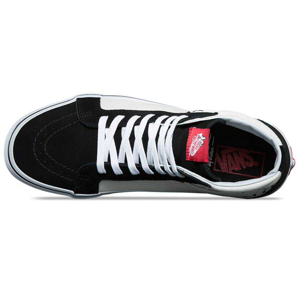VANS Men's Peanuts SK8-Hi Reissue Skate Shoes, Joe Cool/Black - BLACK