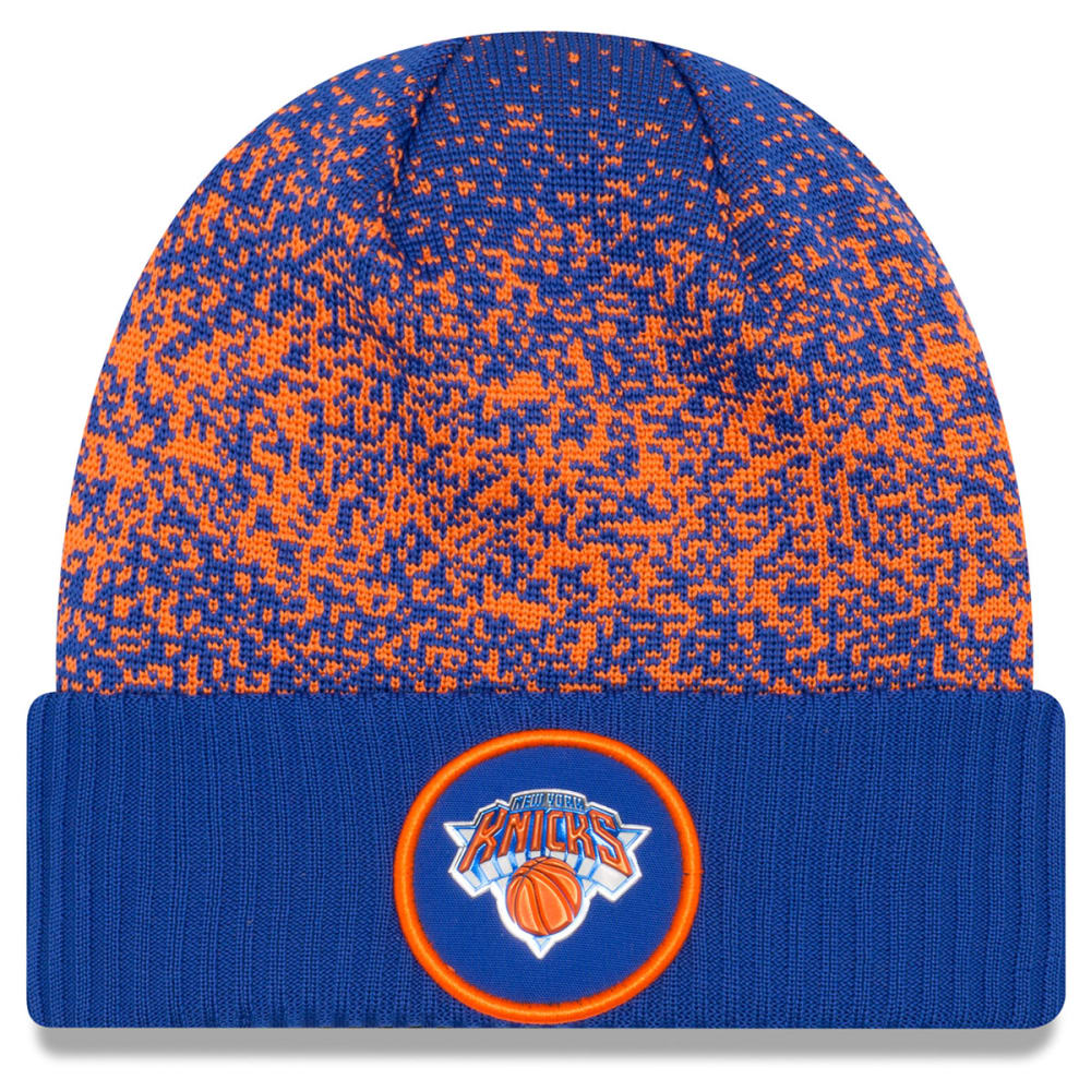 NEW YORK KNICKS On-Court Cuffed Knit Beanie - ROYAL BLUE