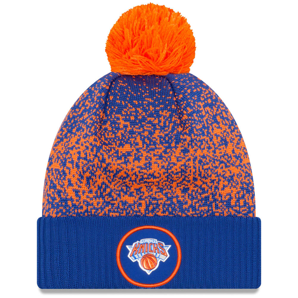 NEW YORK KNICKS Cuffed Pom Knit Beanie - ROYAL BLUE