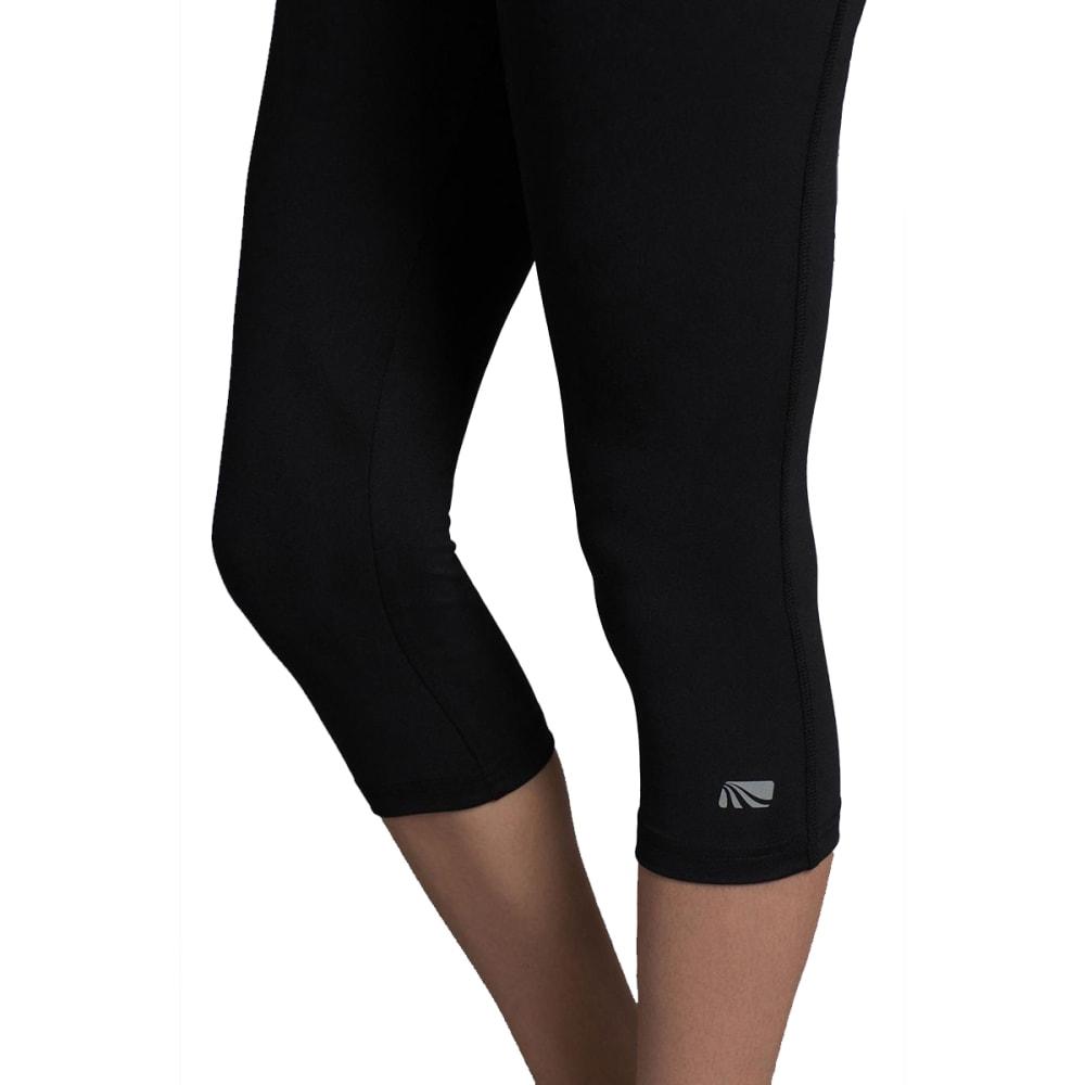 MARIKA Women's Brooke High Rise Tummy Control Capri Leggings - BLACK-001