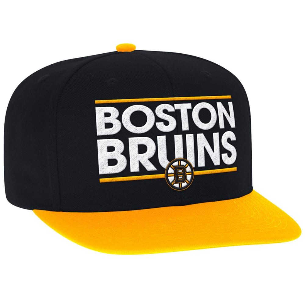 ADIDAS Men's Boston Bruins Dassler Flat Brim Snapback Cap - BLACK/GOLD