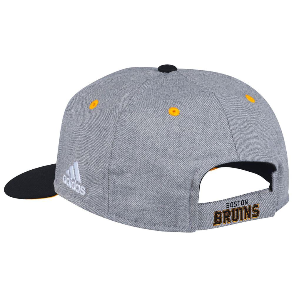 ADIDAS Men's Boston Bruins Structured Two-Tone Adjustable Cap - GREY/BLACK