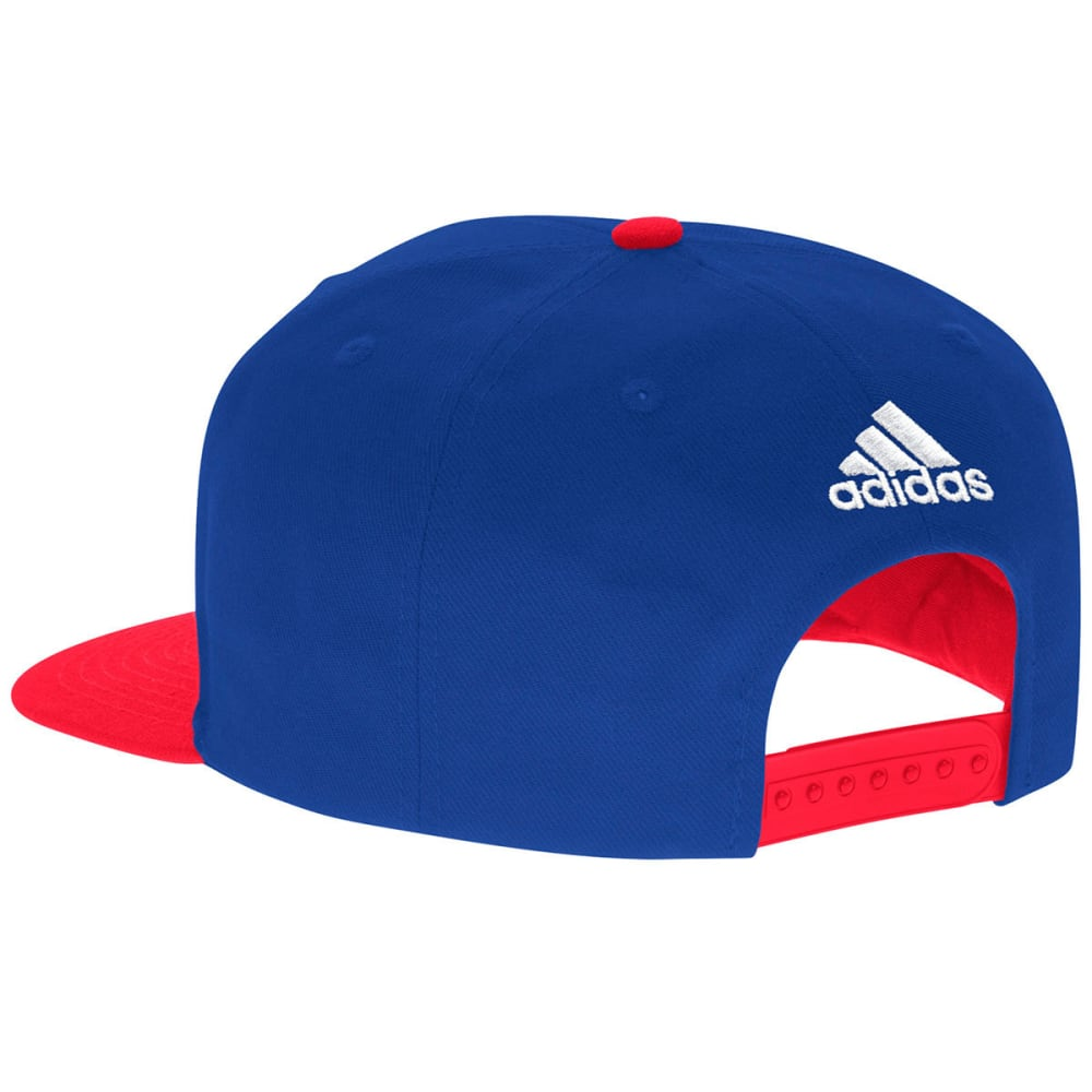 ADIDAS Men's New York Rangers Dassler Flat Brim Snapback Cap - ROYAL/RED
