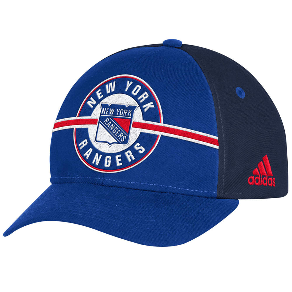ADIDAS Men's New York Rangers Structured Circle Logo Adjustable Cap - ROYAL BLUE