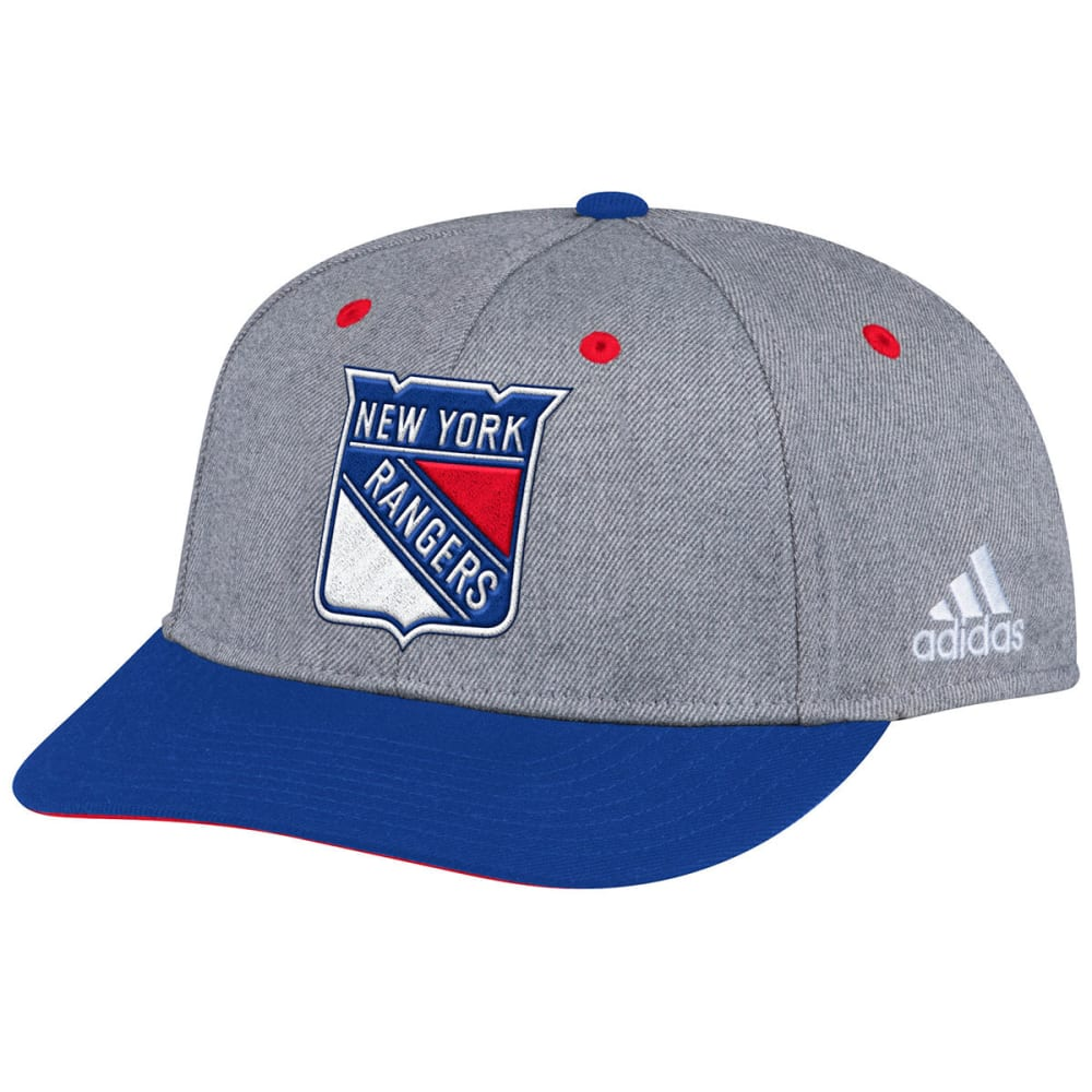 ADIDAS Men's New York Rangers Structured Two-Tone Adjustable Cap - GREY
