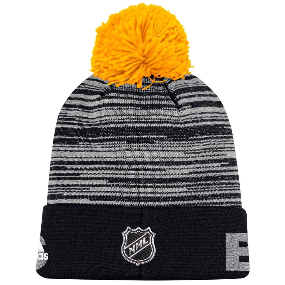 ADIDAS Men's Boston Bruins Cuffed Pom Knit Beanie - BLACK