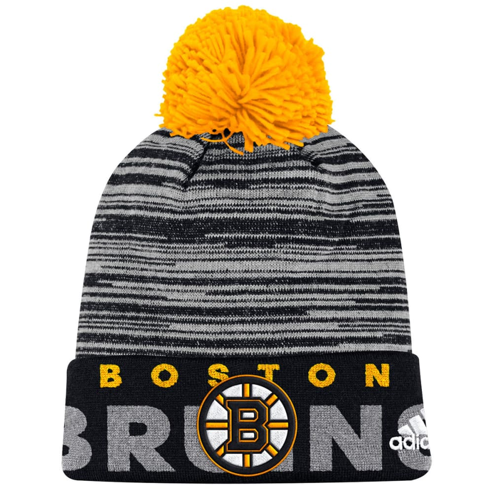 Adidas Men's Boston Bruins Cuffed Pom Knit Beanie - Black, ONESIZE
