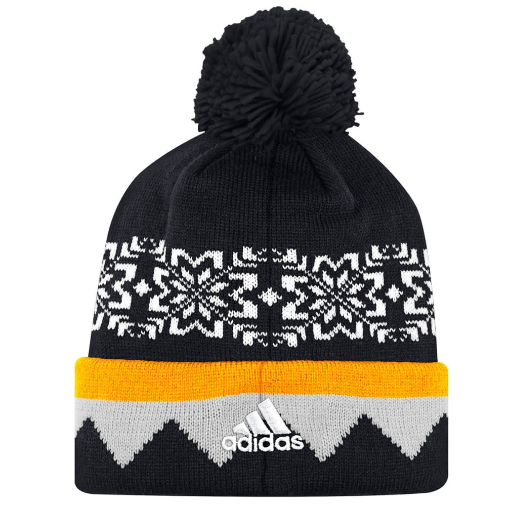 BOSTON BRUINS Ugly Sweater Pom Knit Beanie - BLACK