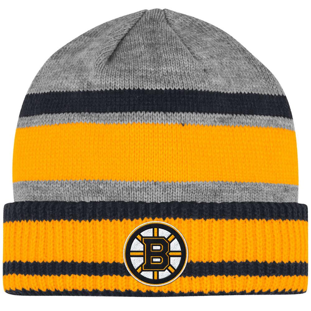 ADIDAS Men's Boston Bruins Heathered Cuffed Beanie - HEATHER GREY