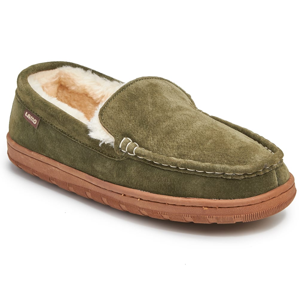 LAMO Men's Warren Moc Slippers, Forest - FOREST