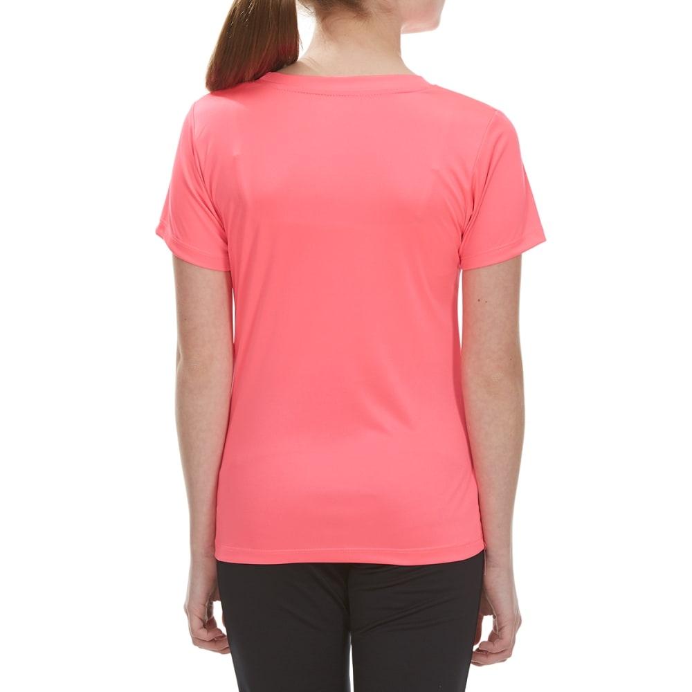 """RBX Girls' """"I'm Just Strong"""" Short-Sleeve Tee - NEON KNOCKOUT PINK"""