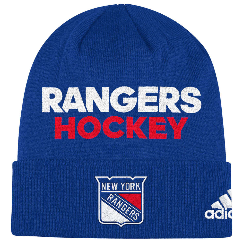 Adidas Men's New York Rangers Locker Room Cuffed Beanie - Blue, ONESIZE
