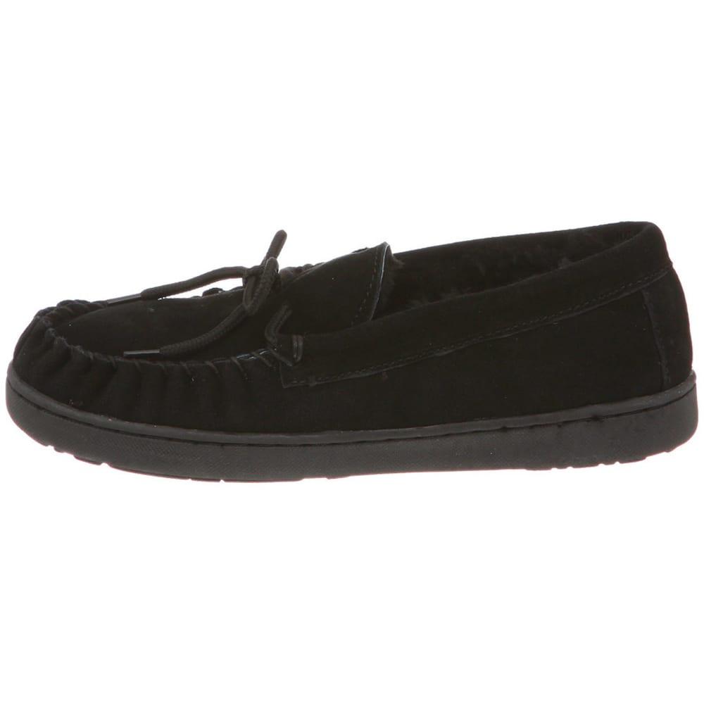 BEARPAW Women's Mindy Moccasin Slippers, Black - BLACK
