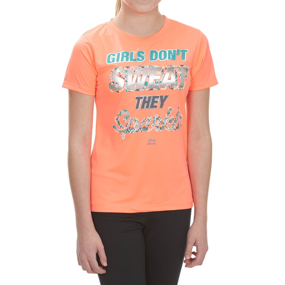 RBX Girls' Sparkle Screen Tee - HOT MELON