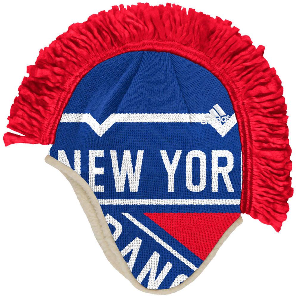ADIDAS Men's New York Rangers Mohawk Knit Beanie - ROYAL BLUE