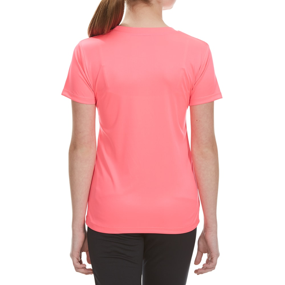 RBX Girls' Never Give Up Screen Tee - NEON KNOCKOUT PINK