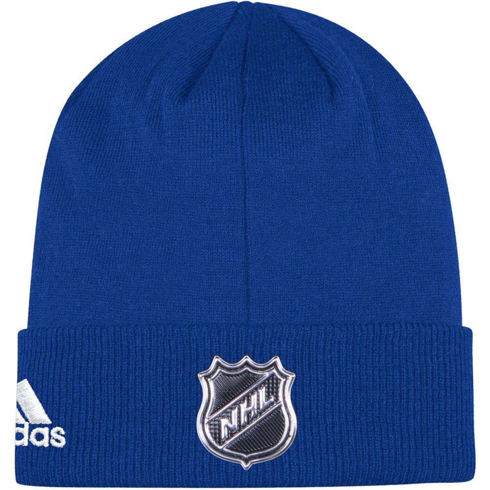 ADIDAS Men's New York Islanders Locker Room Cuffed Beanie - ROYAL BLUE