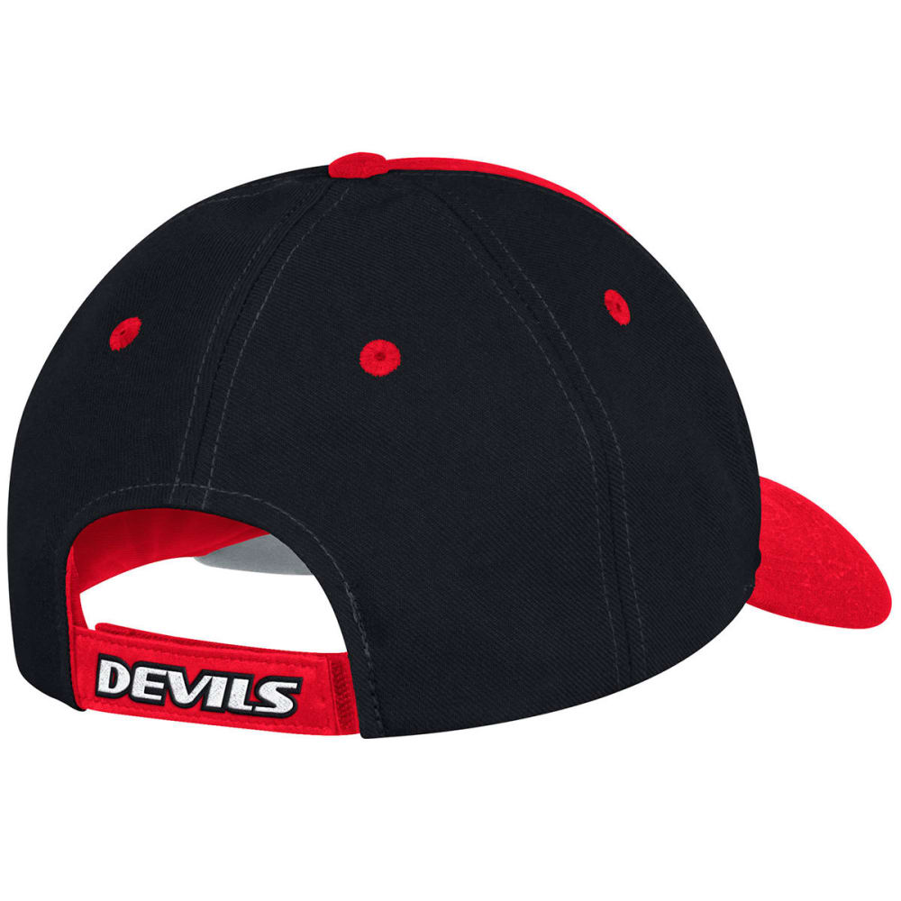 ADIDAS Men's New Jersey Devils Circle Logo Structured Adjustable Cap - BLACK