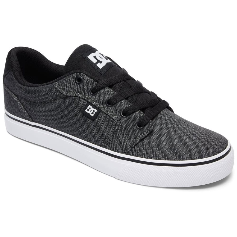 DC SHOES Men's Anvil TX SE Skate Shoes, Black/Dark Grey/White - BLACK