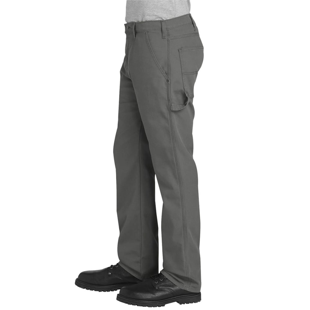 DICKIES Men's FLEX Regular Fit Straight Leg Tough Max™ Duck Carpenter Pants - SSL SLATE GRAY