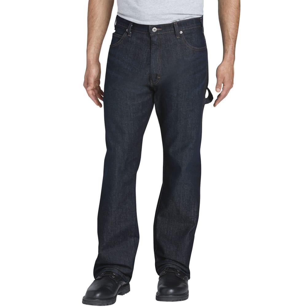 DICKIES Men's Flex Relaxed Fit Straight-Leg Carpenter Tough Max Denim Jeans - TDW TUMBLED DARK WAS