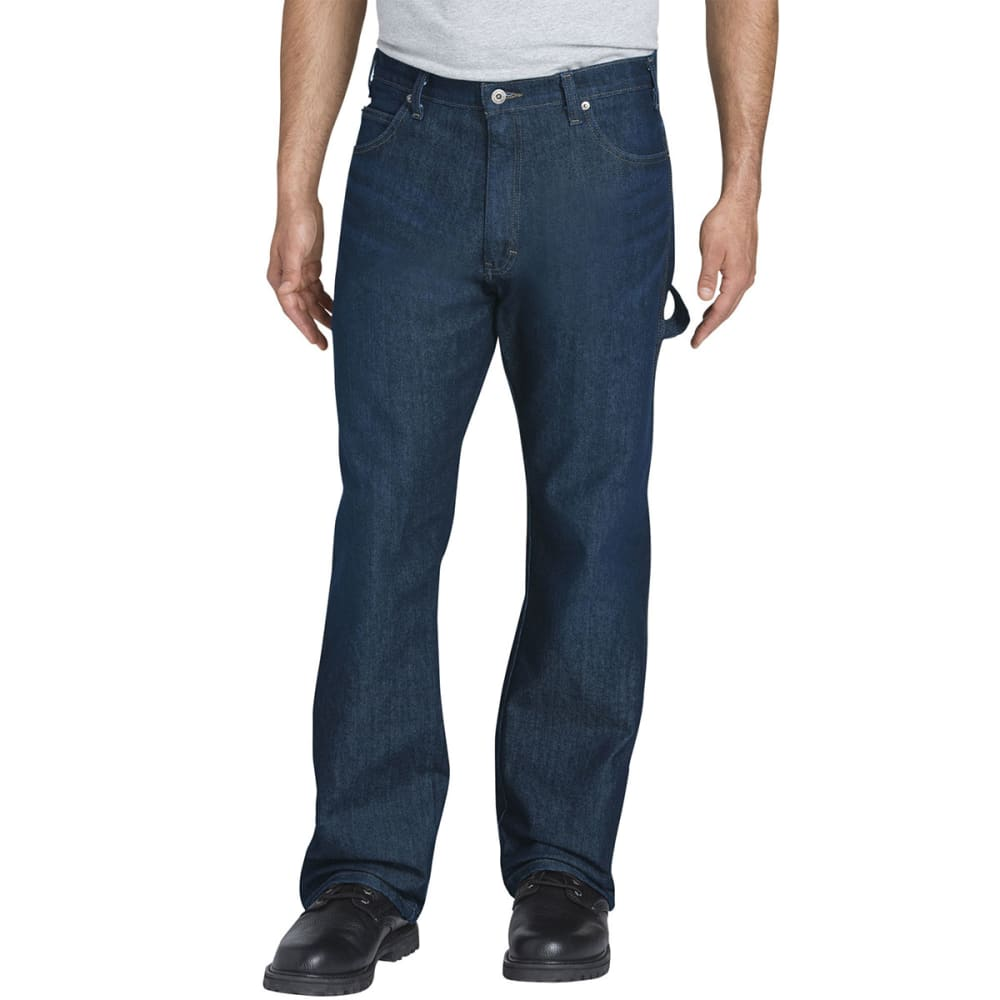 DICKIES Men's Flex Relaxed Fit Straight-Leg Carpenter Tough Max Denim Jeans 30/30