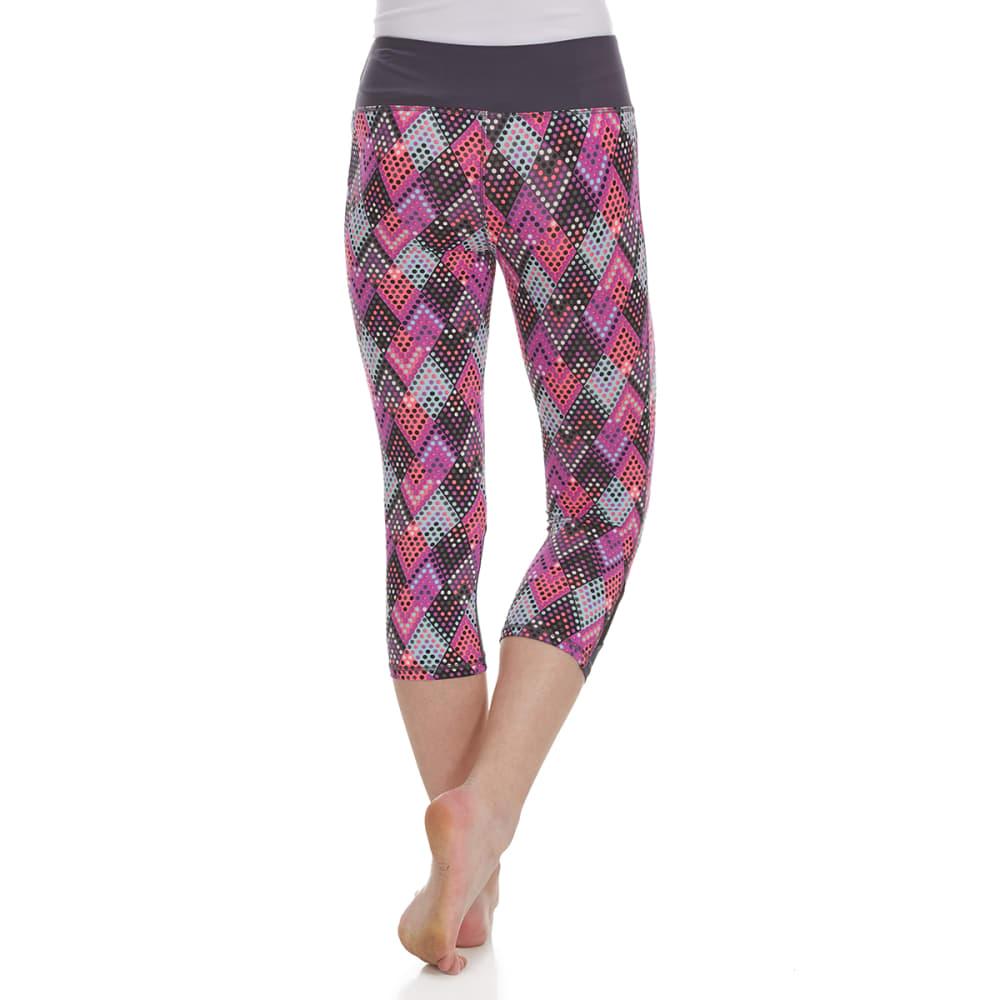 RBX Girls' Multi-Colored Chevron Color-Blocked Capri Pants - ASPHALT GRAY