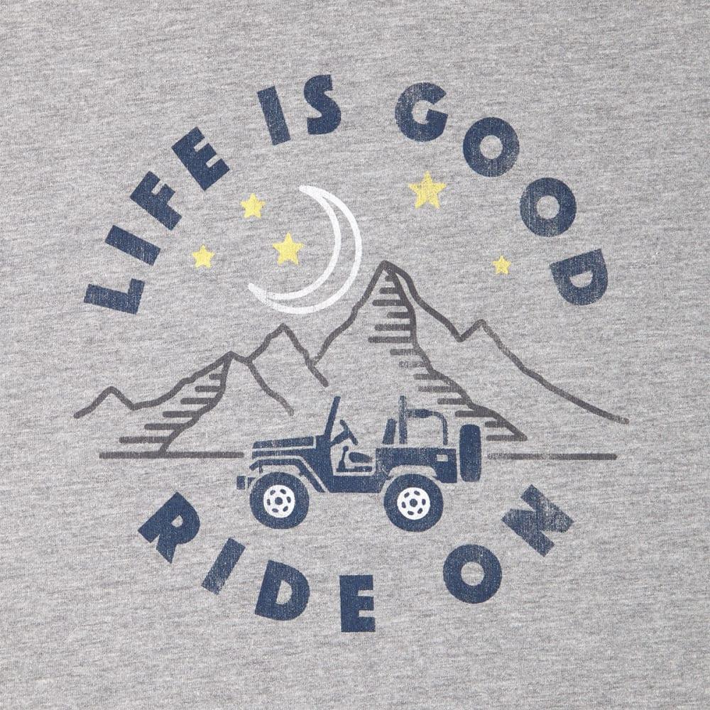 LIFE IS GOOD Men's ATV Ride Long Sleeve Crusher Tee - HEATHER GRAY