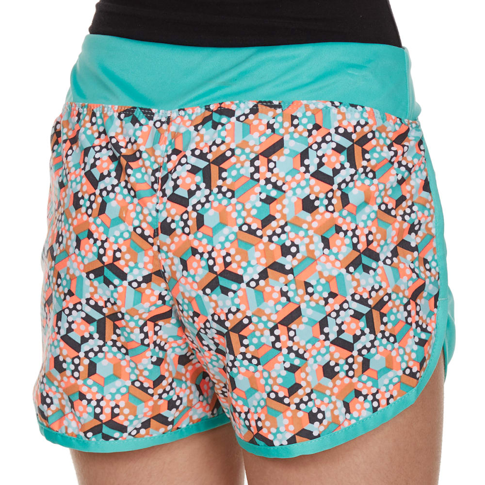 RBX Girls' Stripe-Dot Color-Blocked Tempo Shorts - JADE SPRINKLE MULTI