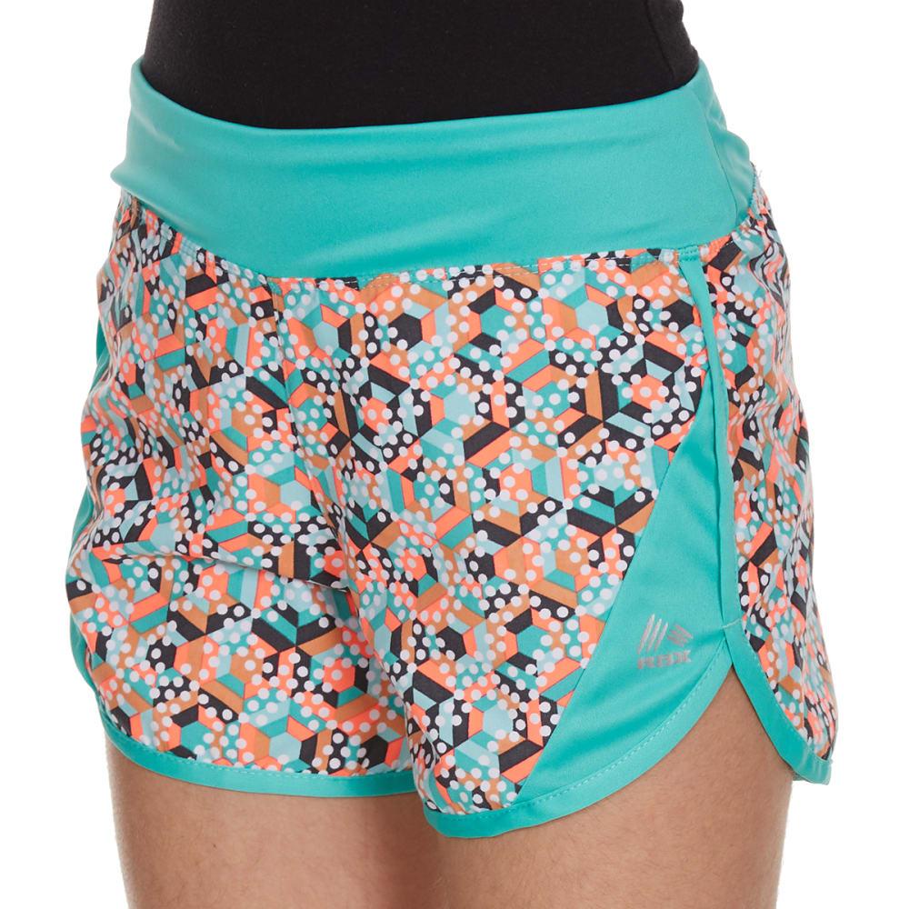 RBX Girls' Stripe-Dot Color-Blocked Tempo Shorts - JADE SPRINKLE MULTI