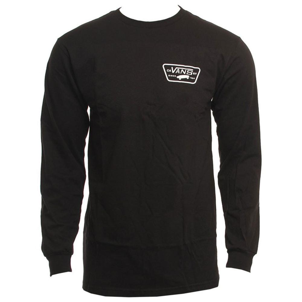 VANS Guys' Full Patch Back Long-Sleeve Tee - BLACK/WHITE-Y28