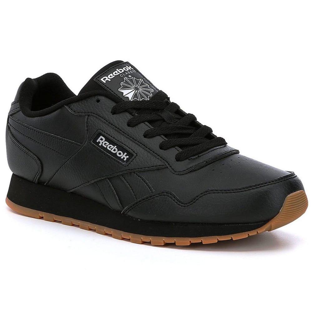 REEBOK Men's Classic Harmon Running Shoes, Black/White - BLACK