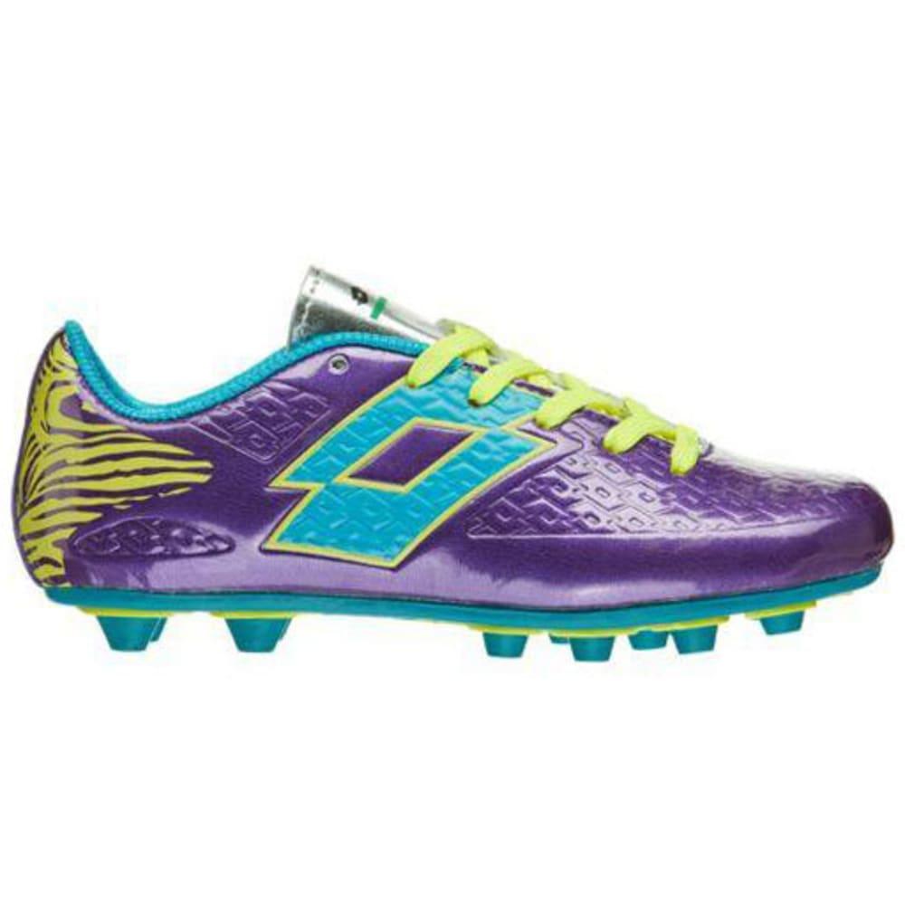 LOTTO Girls' Defender Soccer Cleats, Purple - PURPLE